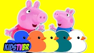 APRENDA AS CORES COM PEPPA PIG E GEORGE PIG EM PORTUGUES BRASIL VIDEO INFANTIL EDUCATIVO KIDS TV BR
