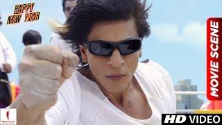 Charlie's Kung Fu Power | Happy New Year Scenes | Shah Rukh Khan, Deepika Padukone width=