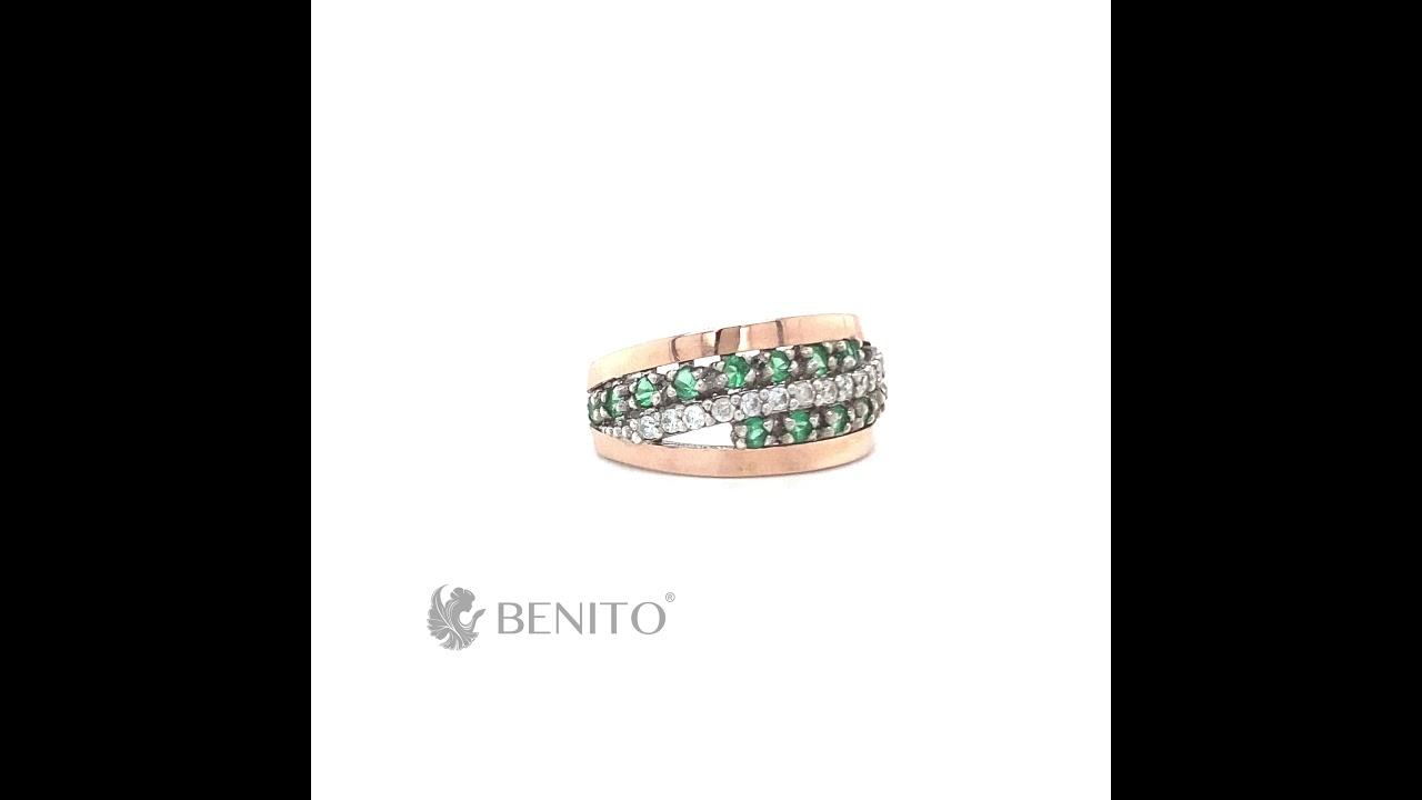 Clelia Ring Green and White Zircon Stones