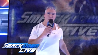An injured Shane McMahon says he will battle AJ Styles at WrestleMania: SmackDown LIVE, Mar 14, 2017