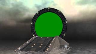 Stargate Gate with animated water - green screen effects