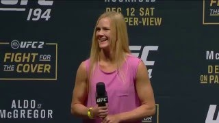 UFC 194: Irish Fan Serenades Holly Holm