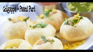 Golgappa Recipe video - Pani Puri Recipe - How To Make Pani Puri - Hindi 2017