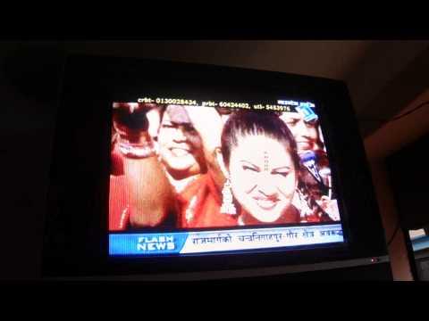 Nepali traditional music in hotel TV, Tansen city Nepal