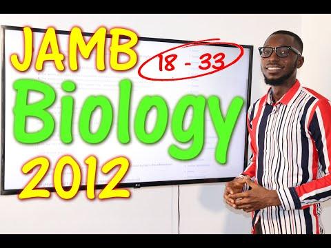 JAMB CBT Biology 2012 Past Questions 18 - 33