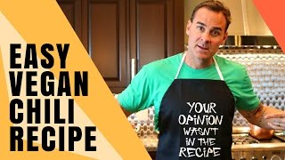 Easy Vegan Chili Recipe for Beginners [feat. The Hangry Chef]