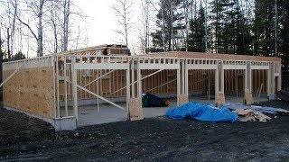 How To Build: Wood Frame 74 x 30 5-bay garage Build Project