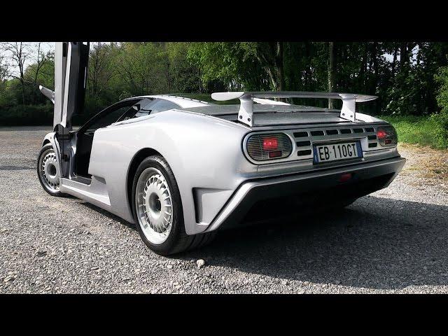 Bugatti EB110 GT Sound - Accelerations & Revs