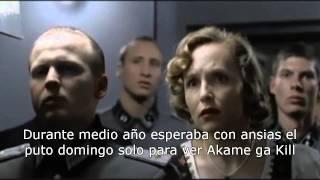 Hitler se entera de la muerte de Tatsumi (Akame ga Kill)