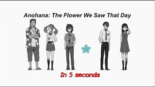 Anohana in 5 seconds