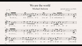 WE ARE THE WORLD: (flauta, violín, oboe...) (partitura con playback)