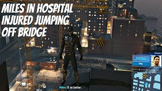Spider-Man PS4 Hammerhead DLC - Miles Says He's In Hospital After Jumping Off Bridge