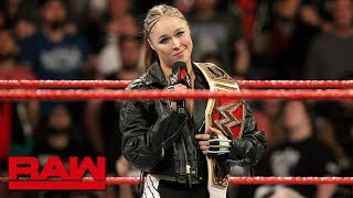 Bayley answers Ronda Rousey's Raw Women's Championship Open Challenge: Raw, Jan. 28, 2019