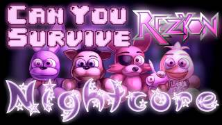 "~Fnaf~""Can you survive""???😈[Nightcore]"