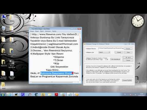 Windows 7 Wallpaper Arka Plan Değiştirme