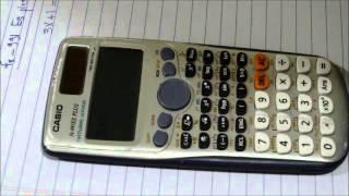 تعريف ونبذة مختصرة علي ازرار الالة الحاسبة casio fx-991 Es plus  وأيضا طريقة حل معادلة بمجهول واحد .
