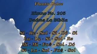 205_Dadme La Biblia, Flauta Dulce Soprano