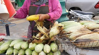 Corn BBQ in Husk | Thai Street Food