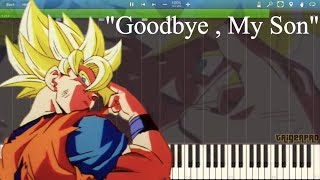 Dragon Ball Z OST - Goku's Sacrifice Theme (Piano Cover Tutorial) [Synthesia]