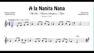A la Nanita Nana Partitura de Saxo Alto Corno o Trompa y Saxofón Barítono Villancico