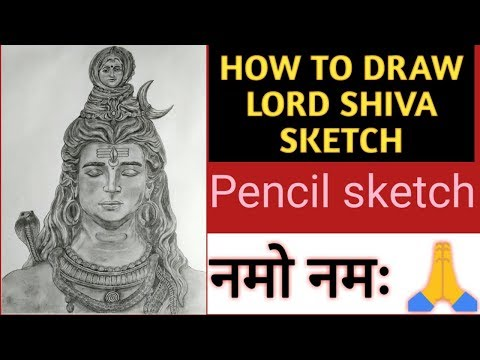 Download thumbnail for How to draw lord shiva pencil sketch | lord