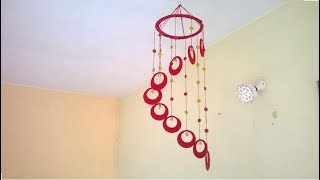 DIY Wind Chime || wall hanging using woolen || room decoration idea width=