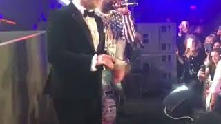 John Travolta On Stage With 50cent at Cannes Film Festival