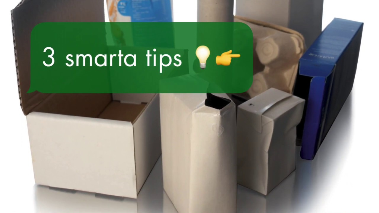 Platta ihop förpackningar och kartonger