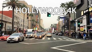Driving Downtown - Hollywood 4K - USA width=
