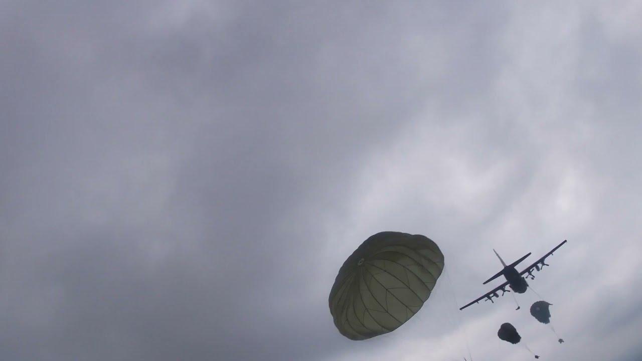 GoPro Helmet Camera View • US Army Paratrooper Parachute Jump • Market Garden 77th Anniversary