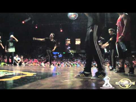 EAST SIDE BBOYS vs LEGITEAM OBSTRUXION | CREW BATTLE | BURN BATTLE SCHOOL 2011