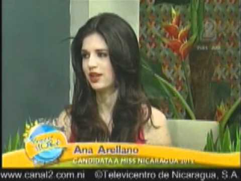 Perfil Ana Arellano Candidata a Miss Nicaragua 2012