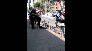 SKID-ROW Girl fight  Downtown Los Angeles