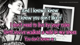 Ariana Grande - You Don't Know Me [Karaoke / Instrumental]