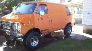 1975 Chevy 4x4 Van Smoke Em