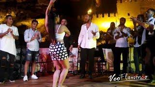 El Arte de AMARA COMPAN bailando por Bulerias, Viva Almeria!   VEOFLAMENCO
