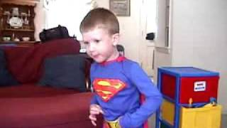 2 Year Old Busts Out Superman Theme Song
