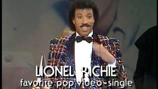 Lionel Richie Wins Pop Single Video - AMA 1985