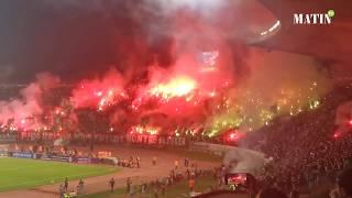 Les chefs-d'oeuvre des fans du Wydad et du Raja lors du derby historique en Coupe Mohammed VI
