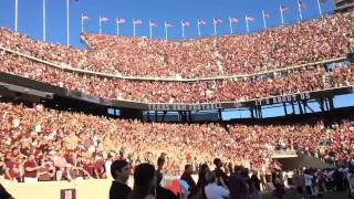 "Fans chanting to Kanye West's ""Power"" 