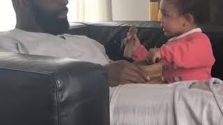 Quand Kaaris calme sa fille avec un seul mots !!
