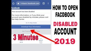 How To Open Facebook Disabled Account 2019 Tricks √ New