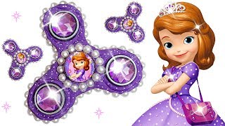 Play Doh Making Sparkle Fidget Spinner For Disney Princess Sofia The First