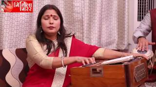 Ranjana Jha perform Maithili traditional song sohar during interviewed by Lalit Narayan Jha