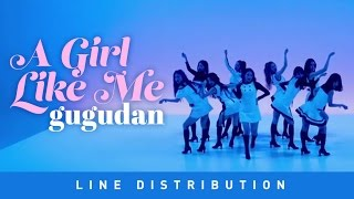 gugudan - 나 같은 애 (A Girl Like Me) Line Distribution