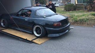 Drifting The Haggard Garage Turbo Miata! It's So Fast!!!