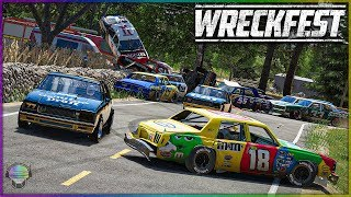 RIDICULOUS WRECKING AT THE FARM! [Farmlands Stage 5] | Wreckfest