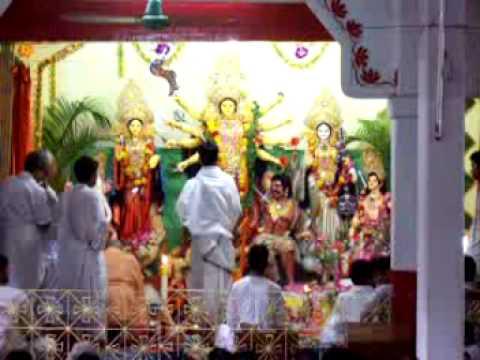 Durga Puja 2008 Ashtami at Ramakrishna Sevashram in Chittagong, Bangladesh