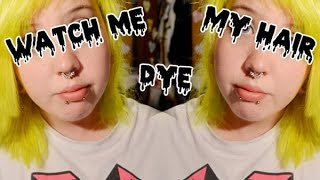 Watch Me Dye My Hair | Yellow/Green