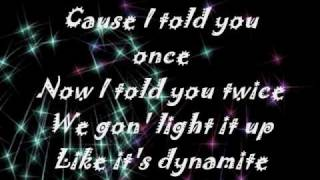 Dynamite - Taio Cruz - ( Onscreen Lyrics )